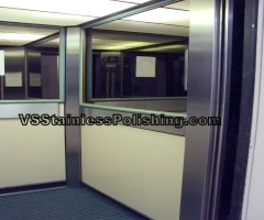Stainless steel polishing scratches will have looking stainless steel lift doors well maintained.